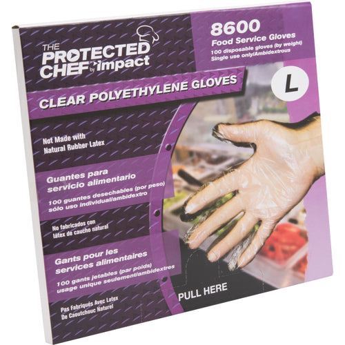 Protected Chef Large Disposable General Purpose Gloves 1000/Box