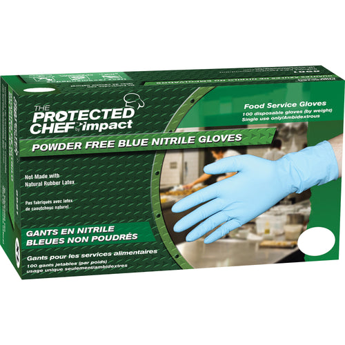 Protected Chef XL Disposable Nitrile Blue Gloves 100/Box 8981