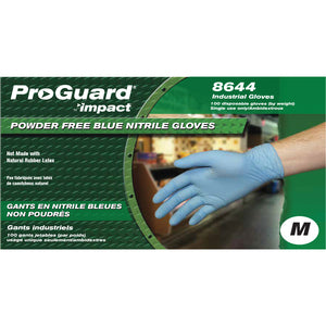 Proguard Medium Disposable Nitrile Blue Gloves 100/Box 8644
