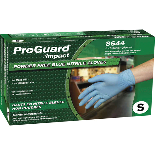 Proguard Small Disposable Nitrile Blue Gloves 100/Box 8644