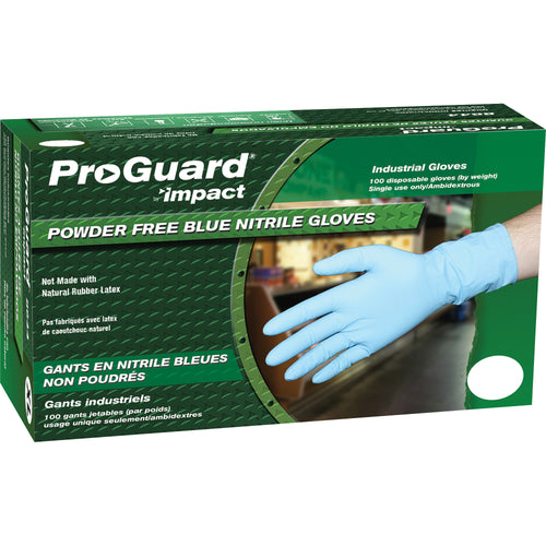 Proguard XXL Disposable Nitrile Blue Gloves 100/Box 8644