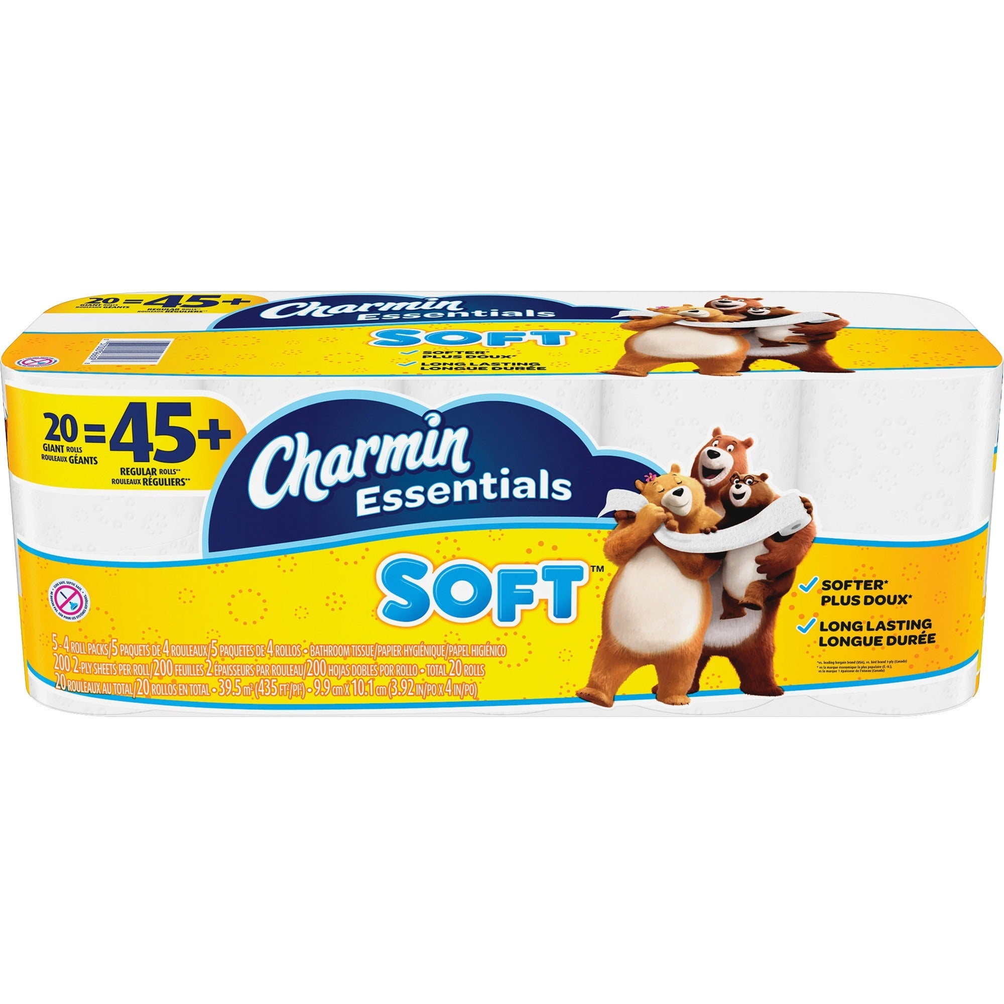 Charmin Essentials Soft Bath Tissue Giant Toilet Paper 20/pack