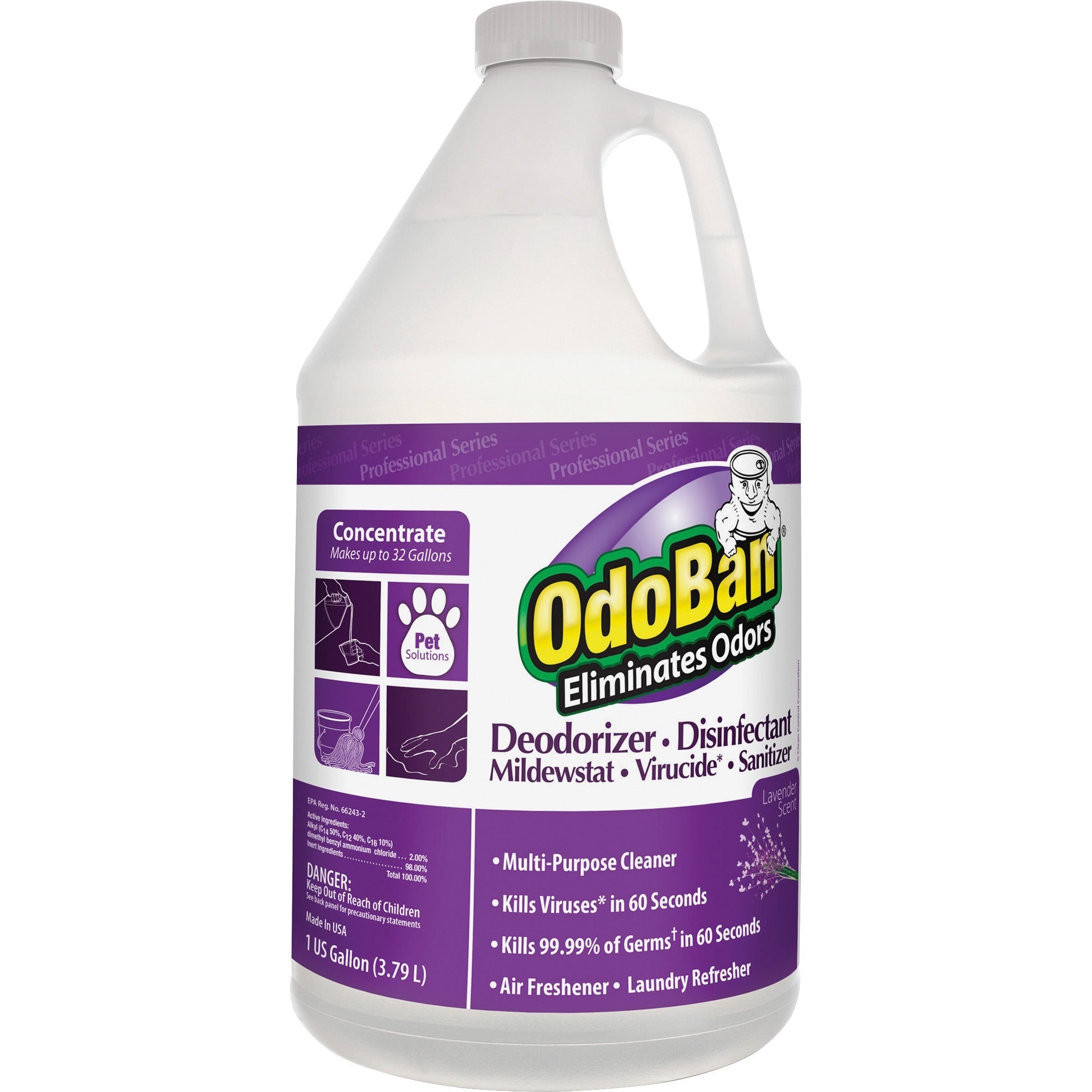 OdoBan Deodorizer Disinfectant Cleaner Concentrate 1 Gallon