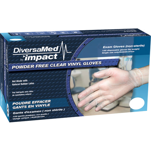 Diversamed Medium Disposable Medical Vinyl Gloves 100/Box 8607