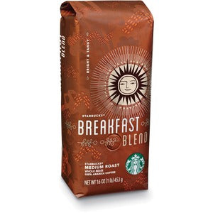 Starbucks Breakfast Blend Whole Bean 1lb bag