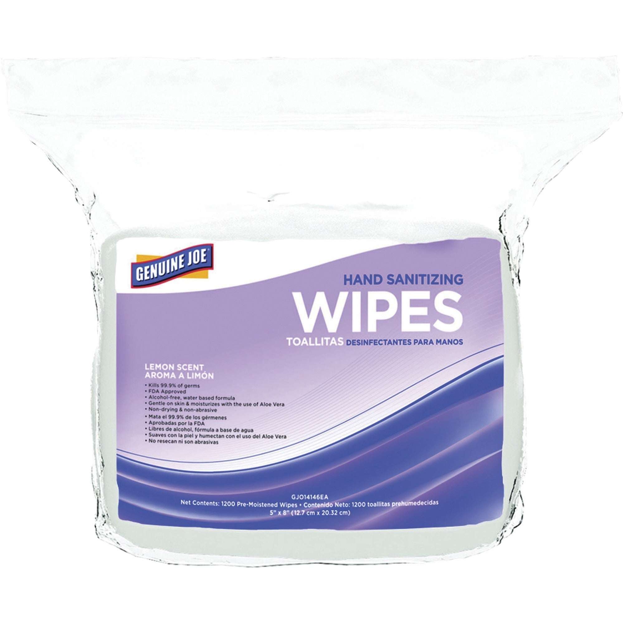 Genuine Joe Hand Sanitizing Wipes Refill 1200ct