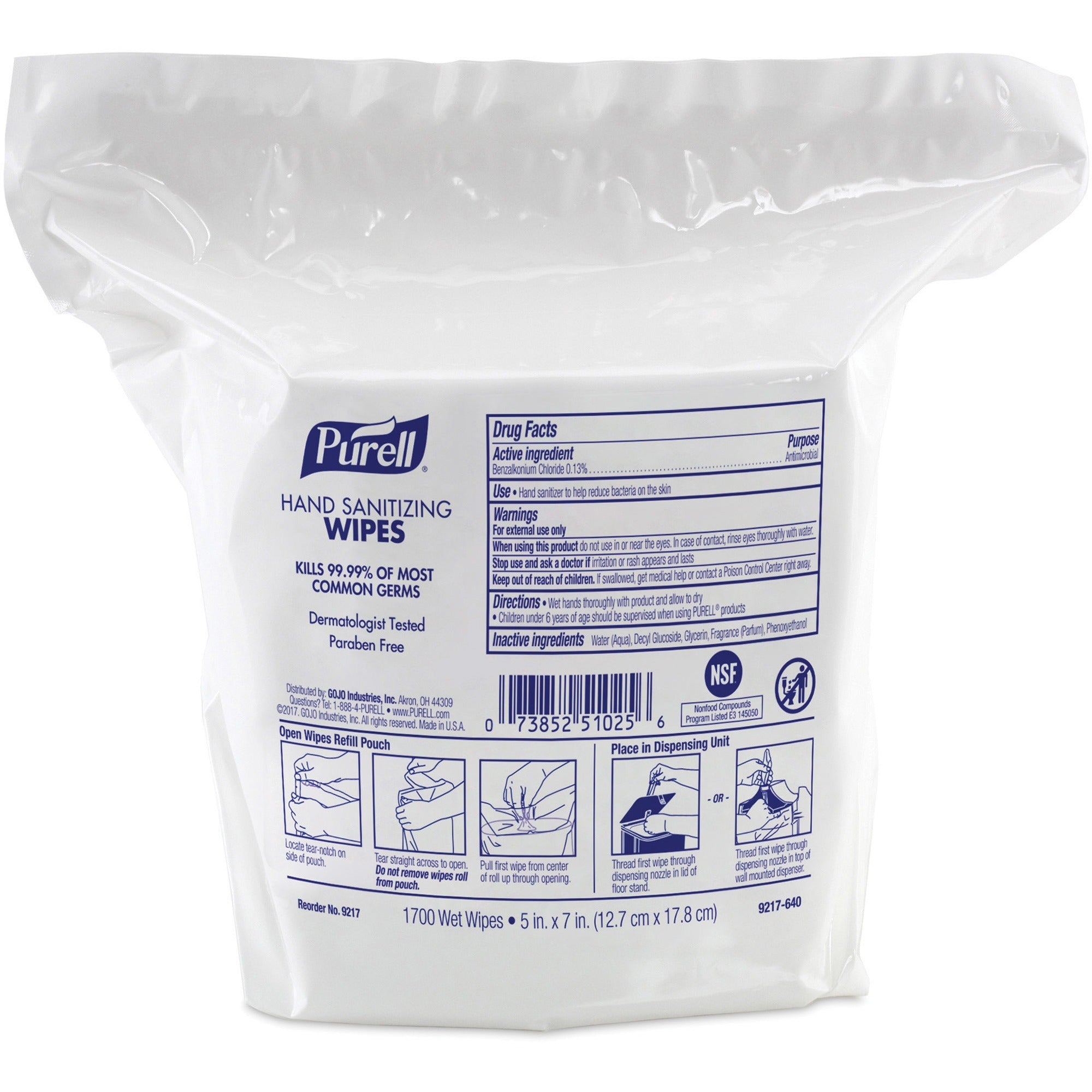 PURELL Sanitizing Wipes Refill 1700ct