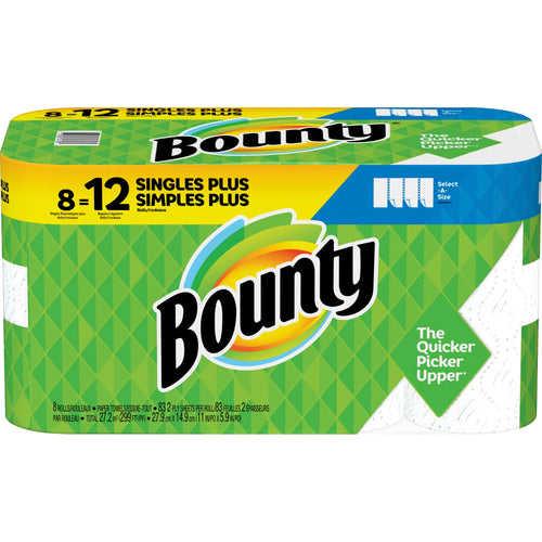 Bounty Paper Roll Towels  Select-a-Size 8 Pack
