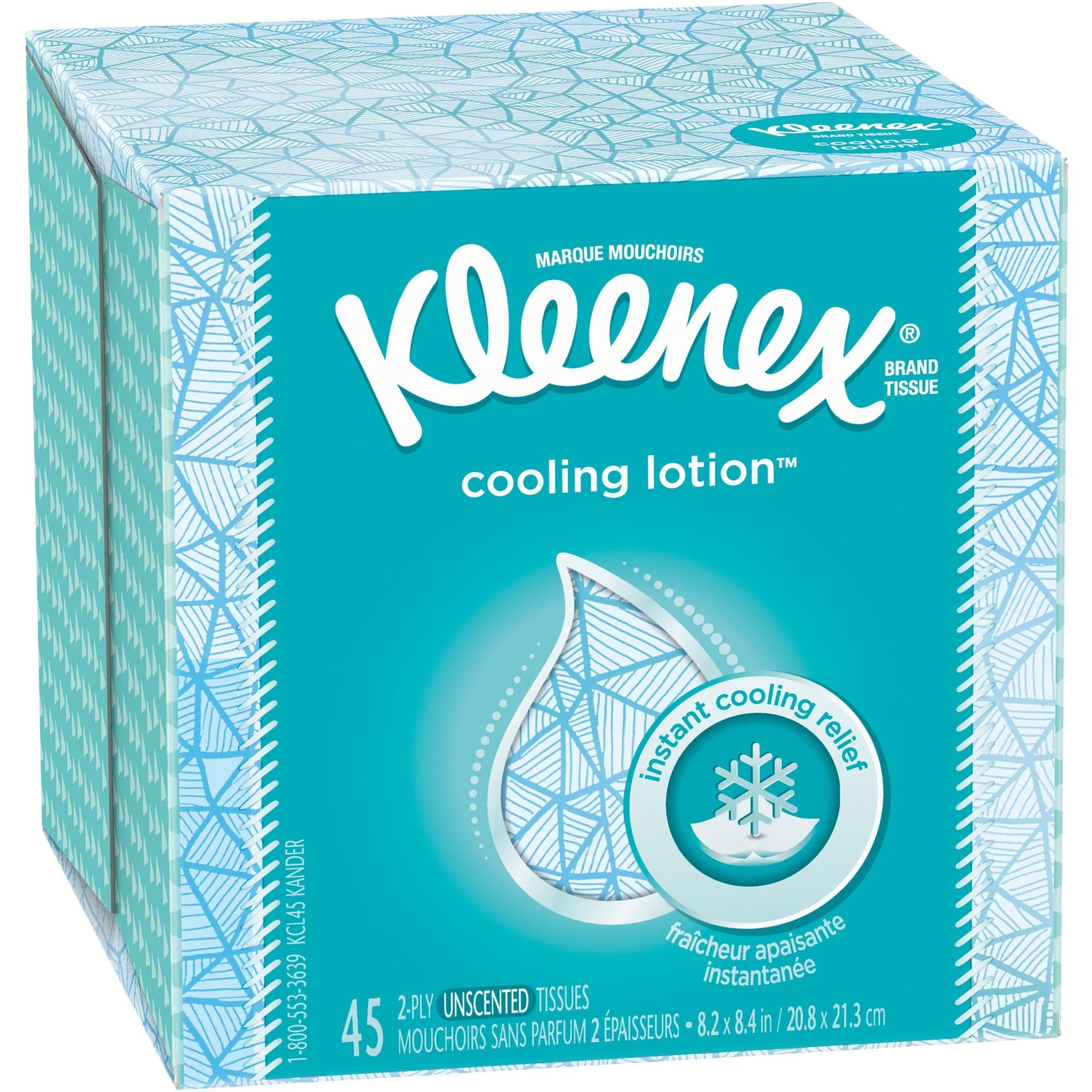 Kleenex Cooling Lotion Tissues Box