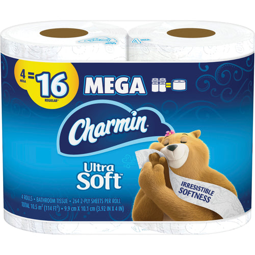 Charmin Ultra Soft Bath Tissue Mega Toilet Paper 4/pack