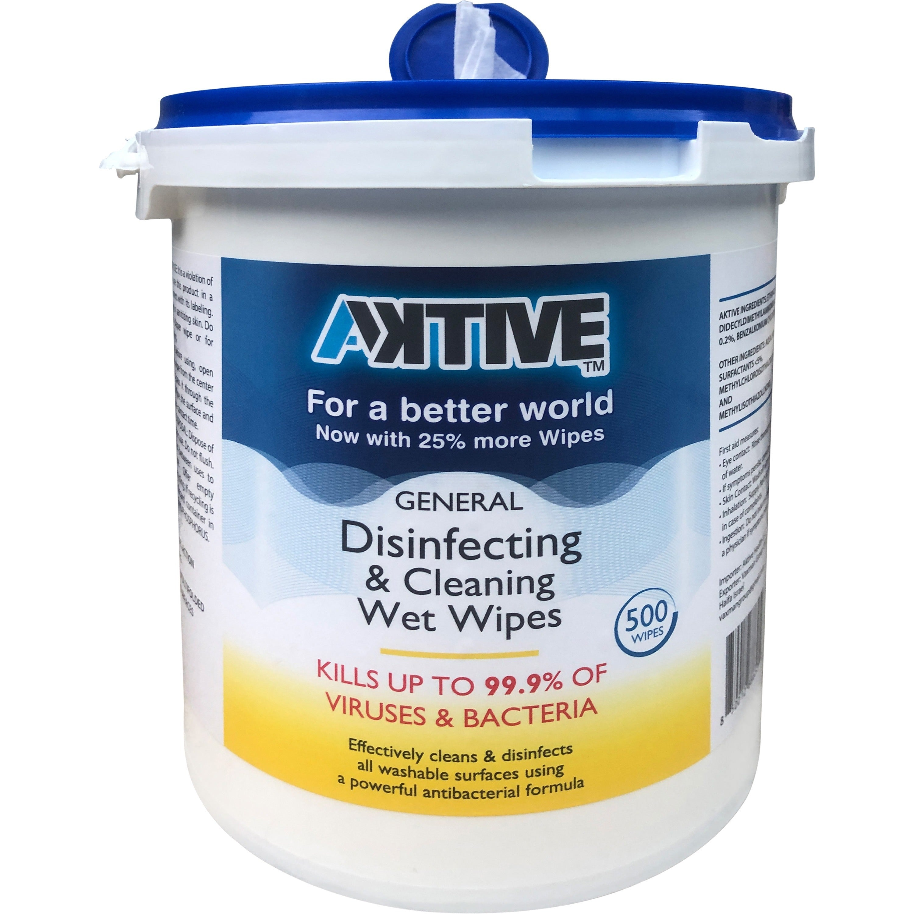 Aktive Disinfecting Wipes 500/bucket