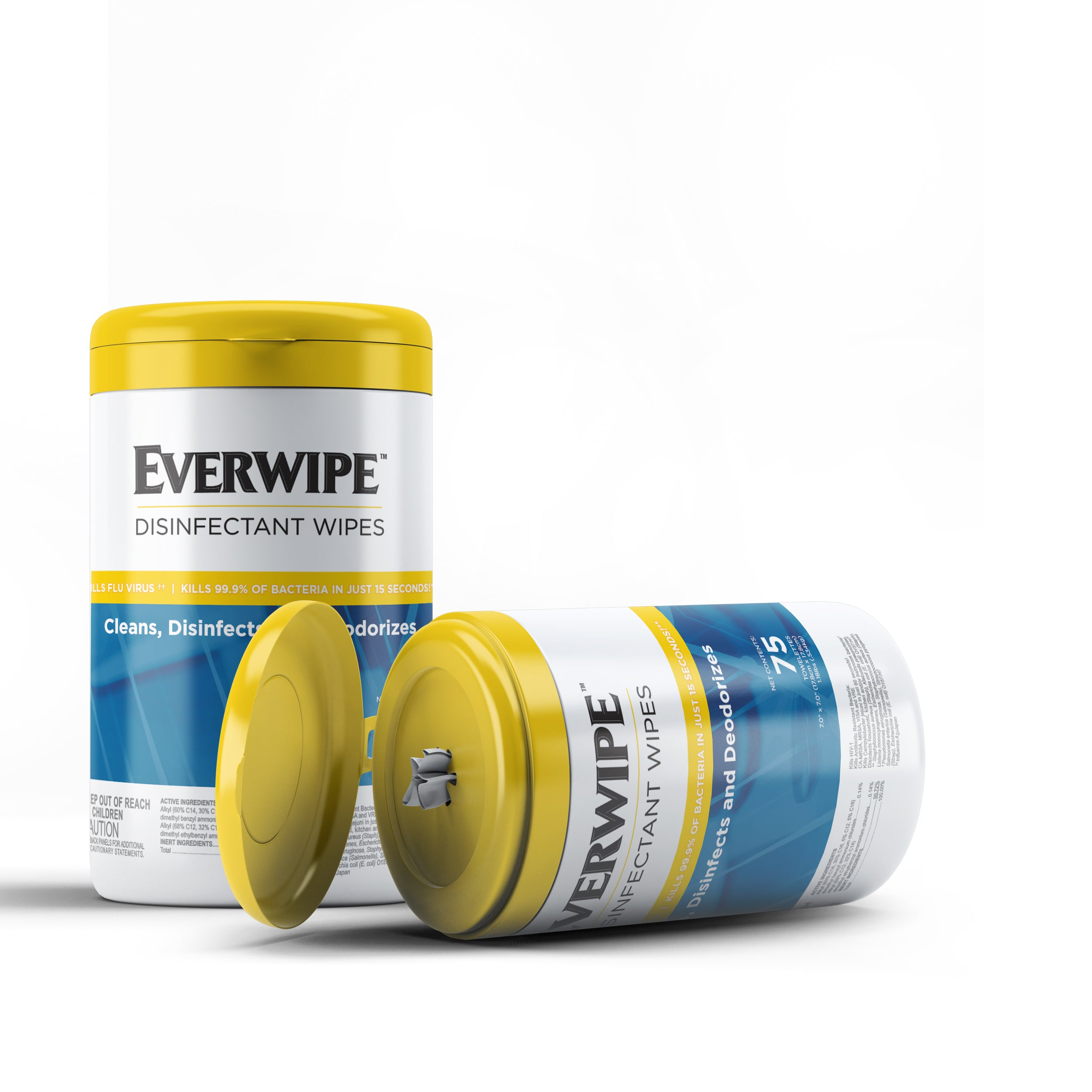 EverWipe Disinfecting Wipes - Lemon Scent, 75 ct (lysol/Clorox generic)