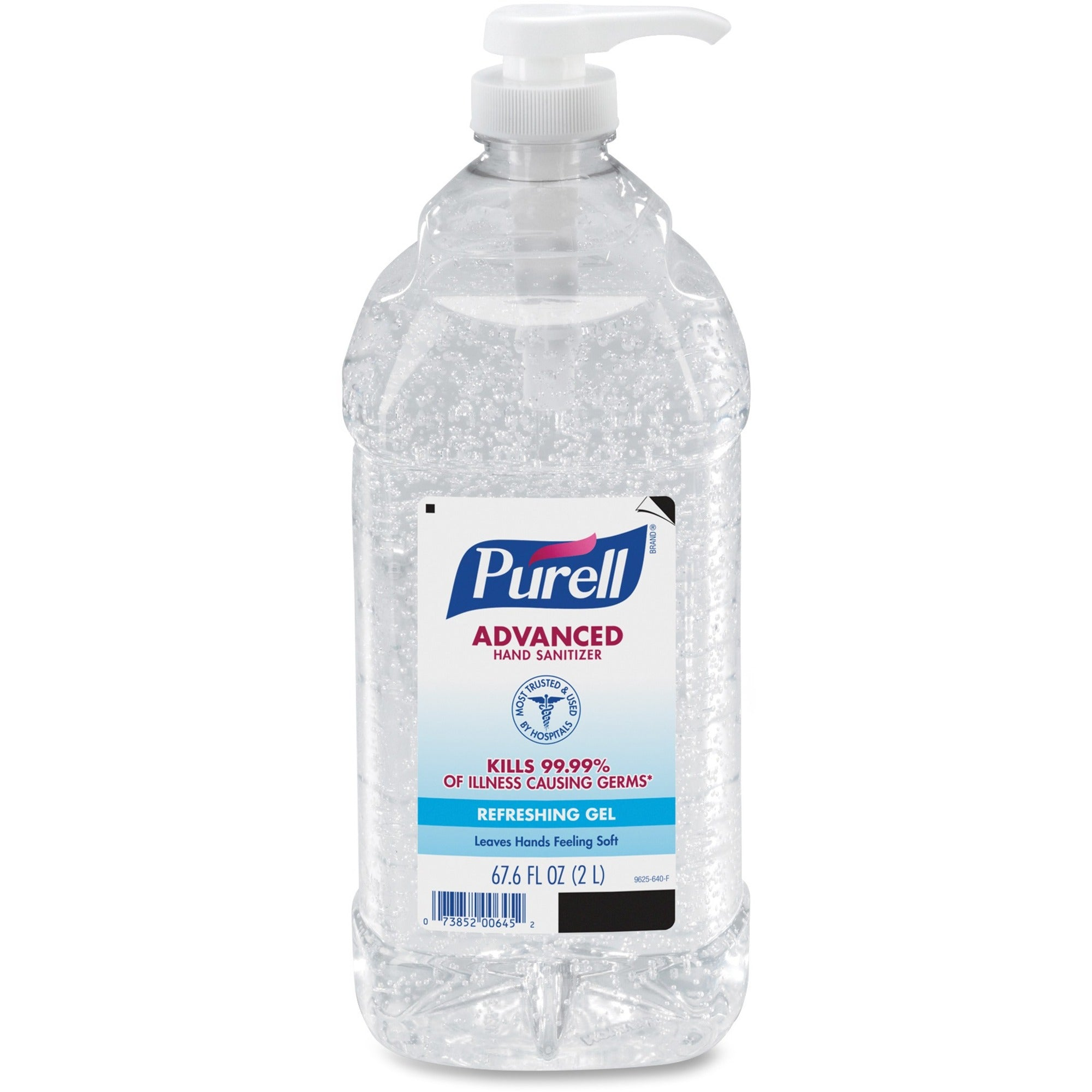 Purell 67.6 Oz. Advanced Instant Hand Sanitizer Gel w/Pump