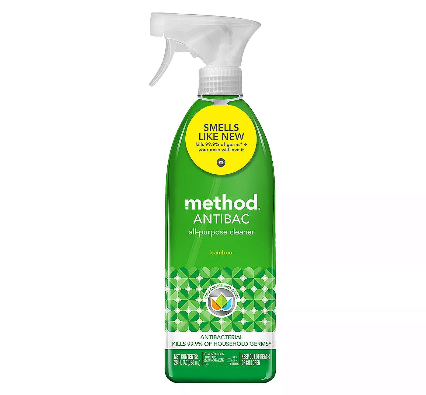 Method Antibacterial Cleaner Bamboo Spray Bottle - 28 fl oz