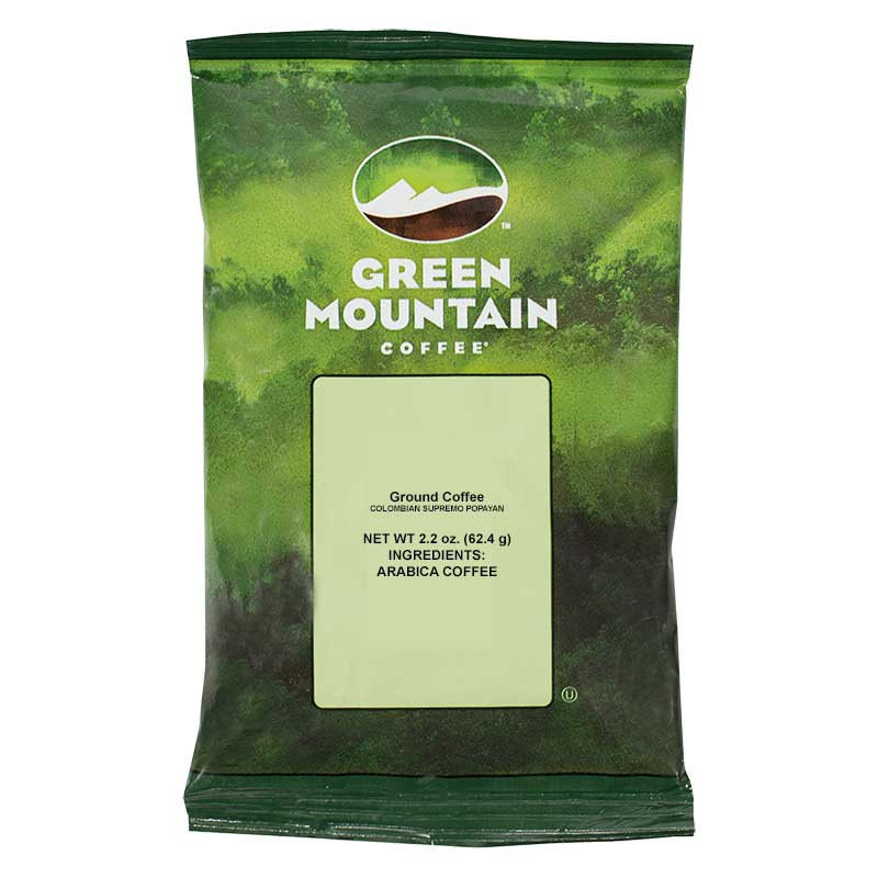 Colombian Supremo Popayan Ground Coffee 100 x 2.2 oz Portion Packs | Keurig Green Mountain