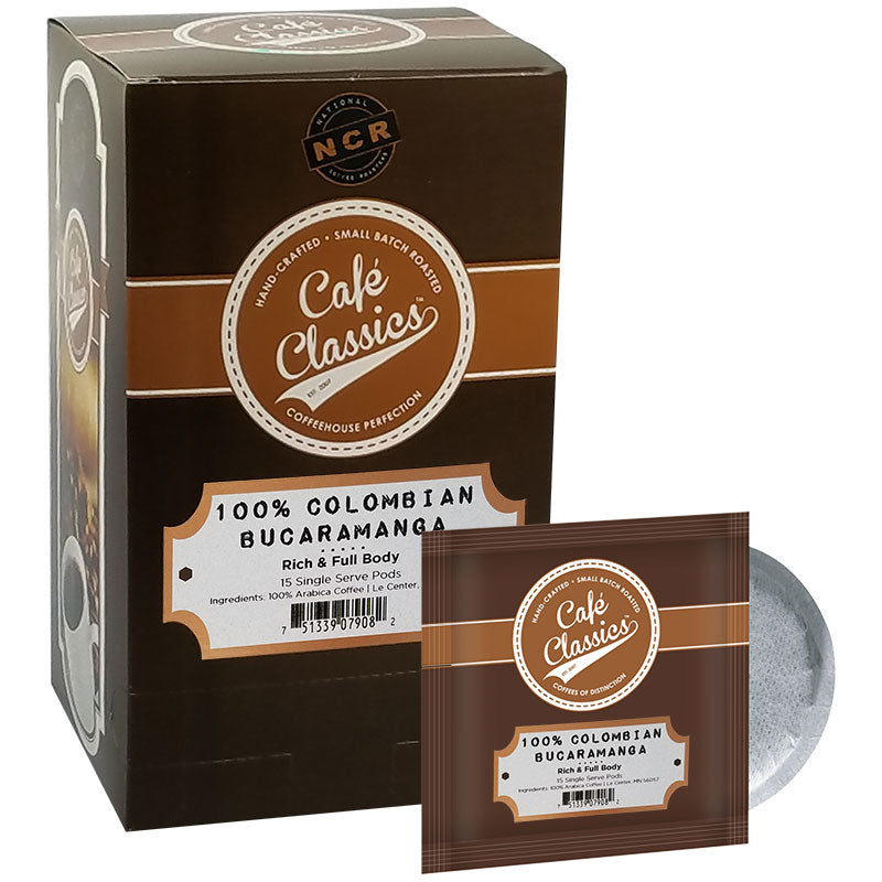 100% Colombian Bucaramanga Soft Coffee Pods | Cafe Classics