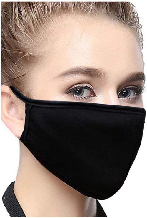 2 Layer Cotton Black Face Mask  - 2 Pack!