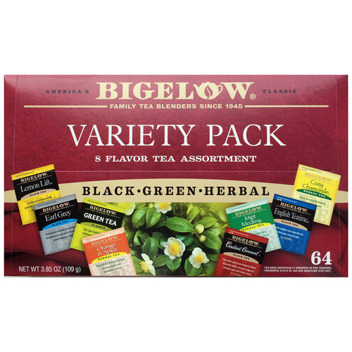 Variety Tea Tray, 64 Bagged Teas, 8 Flavors | Bigelow Tea