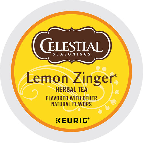 Lemon Zinger, Herbal Tea, K-Cup, Keurig | Celestial Seasonings®