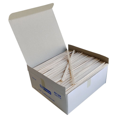 "5.5"" Wood Coffee Stirrers, Kitchen Supplies, Disposable Tableware 