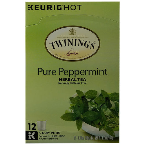 Pure Peppermint Tea, Keurig K Cup Pods, Herbal | Twinings of London