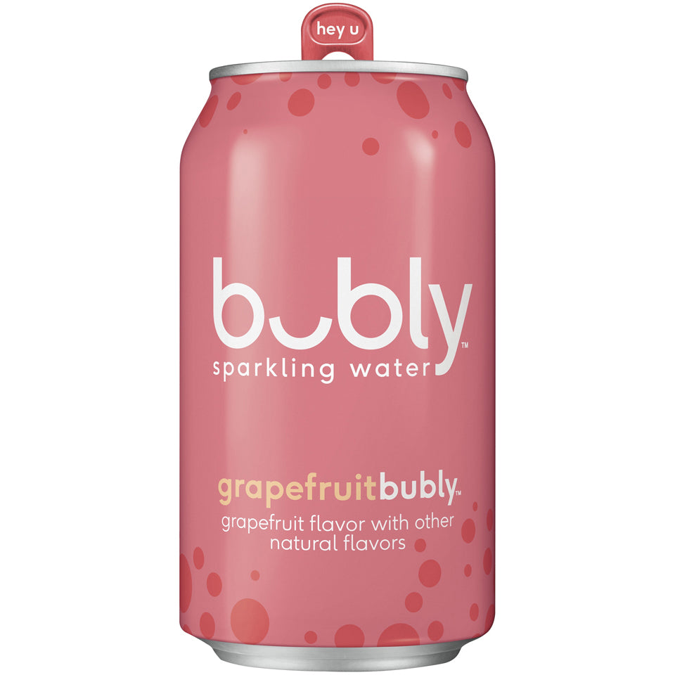Bubly Water Grapefruit 24/12oz cans per case