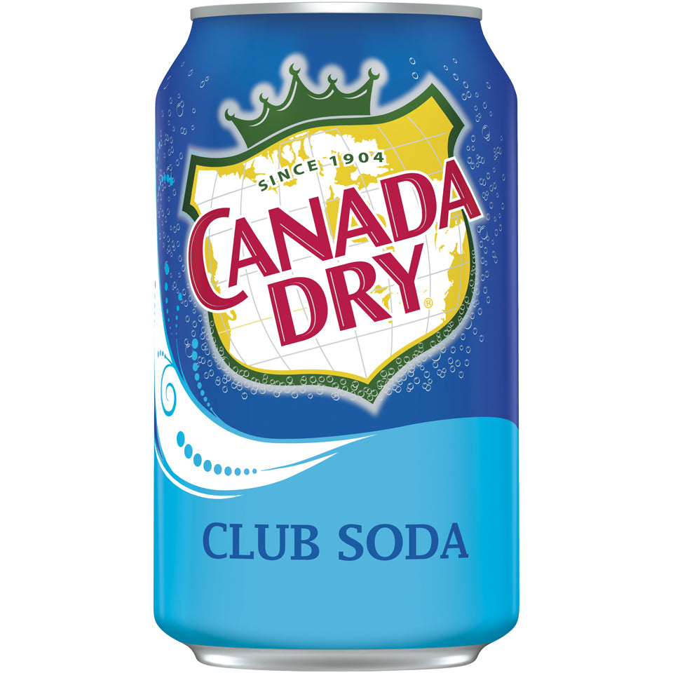 Canada Dry Club Soda 24-12oz cans per case