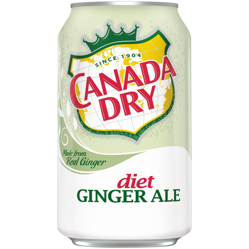 Canada Dry Ginger Ale Diet 24-12oz bottles per case