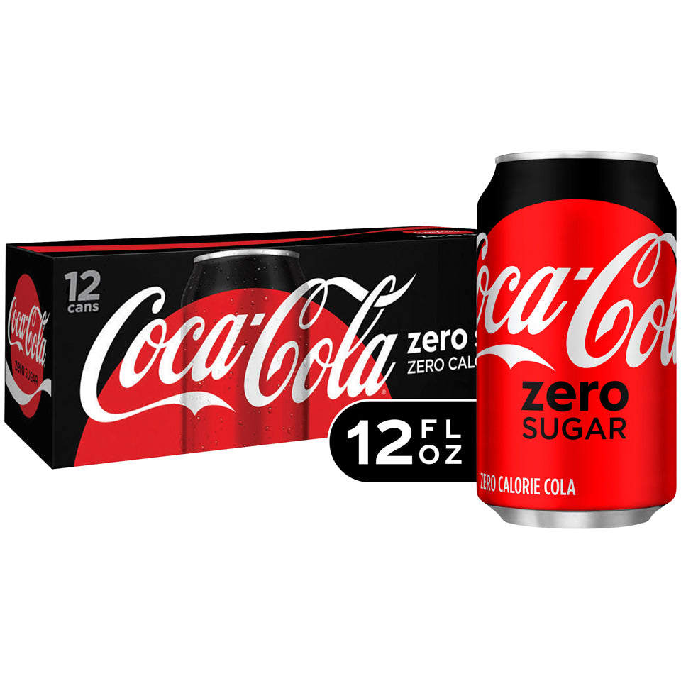 Coke Zero 24-12oz cans per case