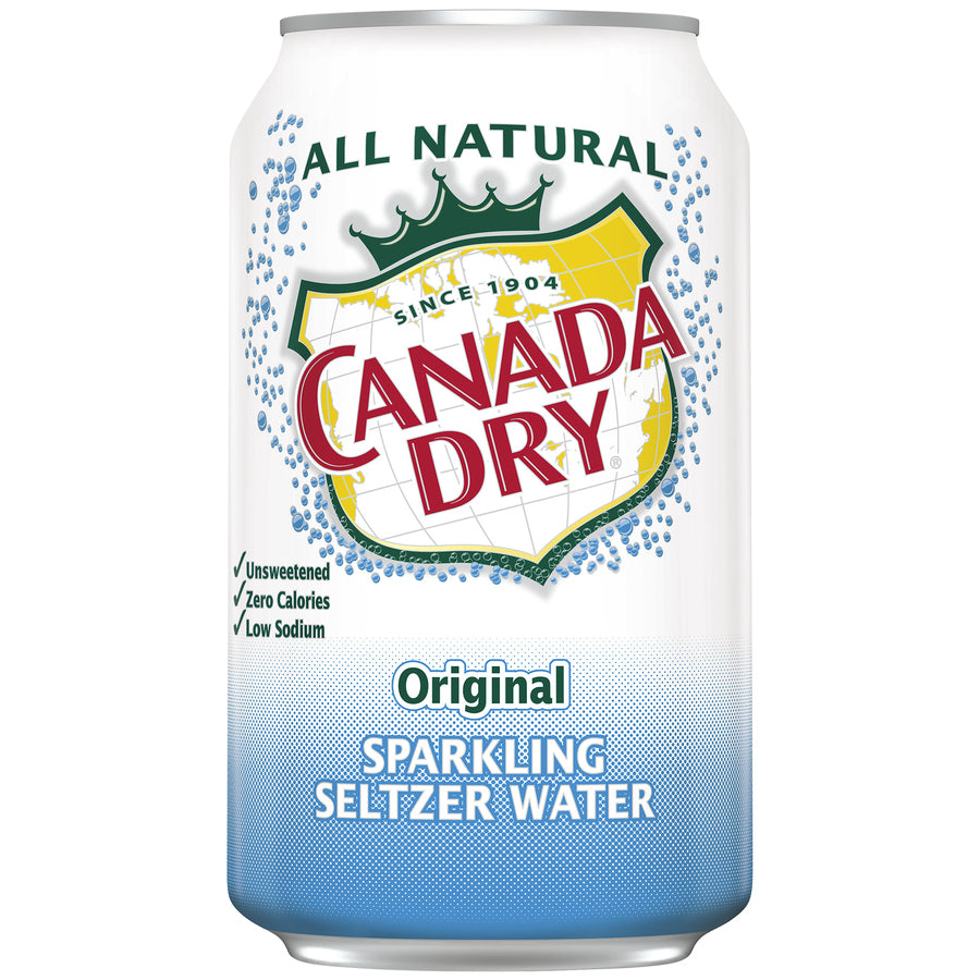 Canada Dry Seltzer 24-12oz cans per case