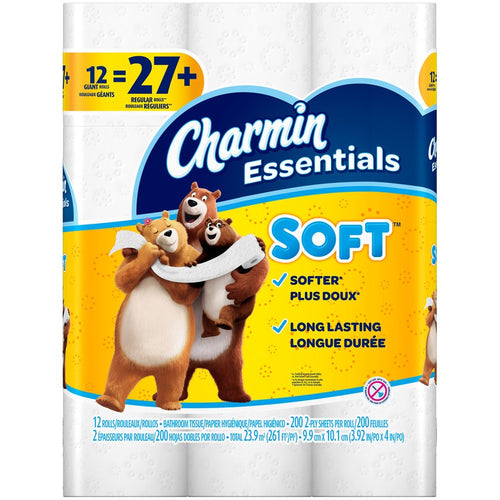 Charmin Essentials Soft Toilet Paper 12 Giant Rolls