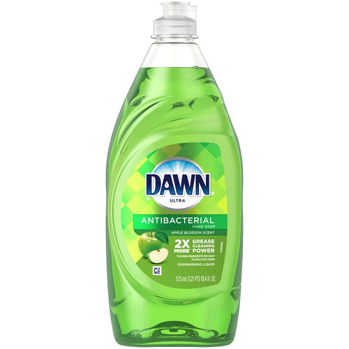 Dawn Ultra Antibacterial Dishwashing Liquid Dish Soap, Apple Blossom Scent, 19.4 fl. oz