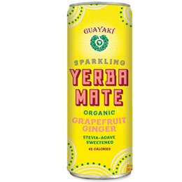 Guayaki Yerba Mate Grapefruit 12/12oz Cans