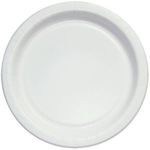 "9"" White Coated Paper Plates 125ct"
