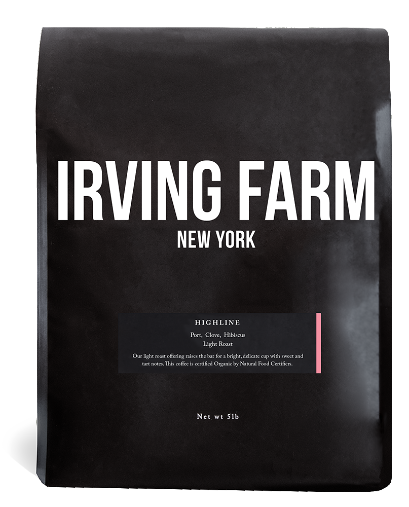 IRVING FARM HIGHLINE BLEND WHOLE BEAN COFFEE 5LB BAG