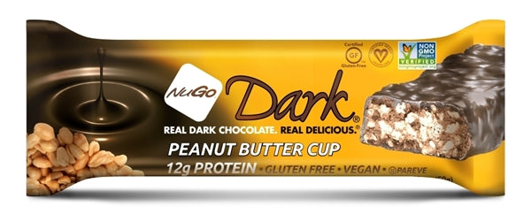 Nugo Dark Chocolate Peanut Butter Cup Bar 12/1.76oz