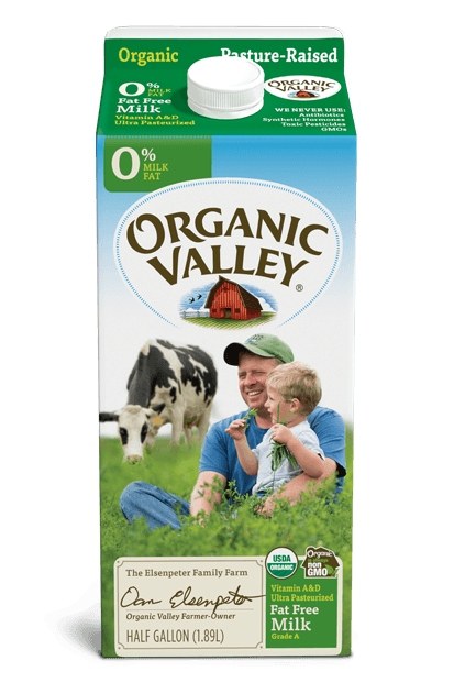 Organic 1/2 Gallon Nonfat Skim Milk Fresh Milk (Brand Varies)