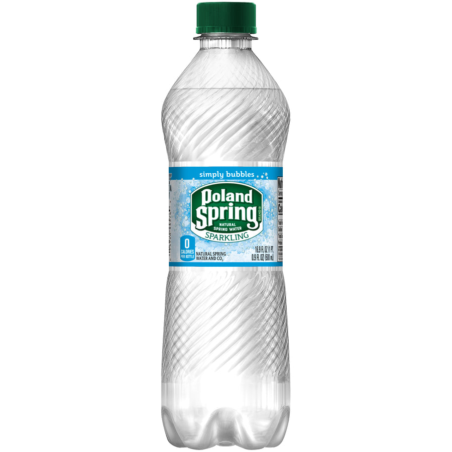 Poland Spring Sparkling Water Simply Bubbles 24/16.9oz bottles