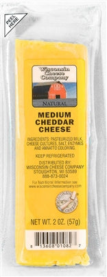 Wisconsin Cheese Company Cheddar Cheese 24/2oz packs