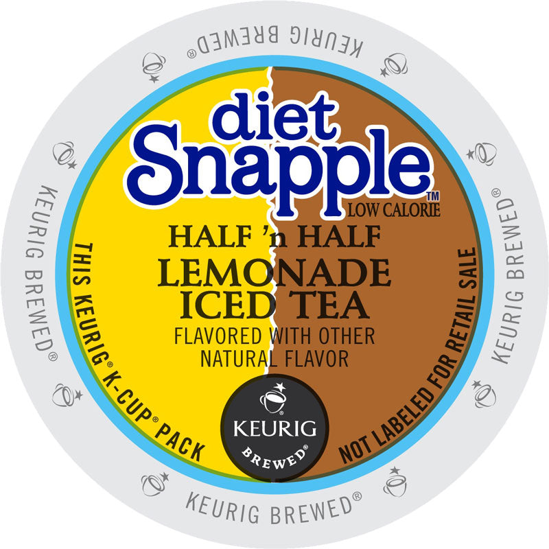 Diet Snapple Half 'n Half Lemonade Iced Tea, 22 K-Cup Pods, Flavored | Snapple