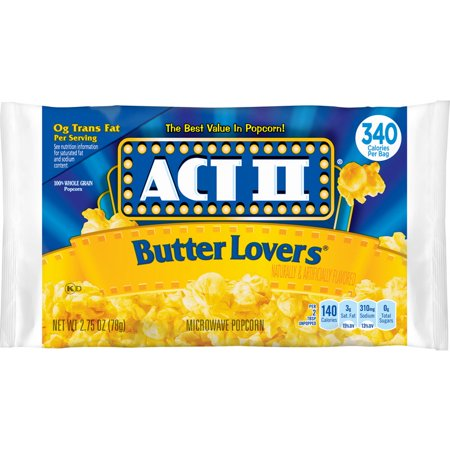 Act II Popcorn Butter Lovers 3oz pack (36/cs)