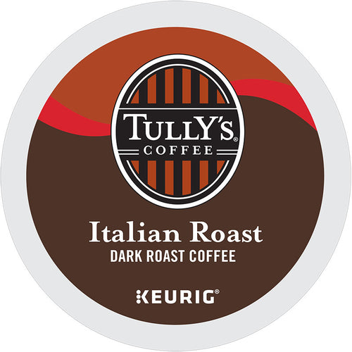 Italian Roast Dark Roast Coffee, K-Cup Pod, Keurig | Tully's Coffee