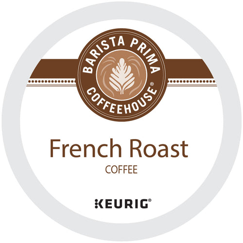 French Roast Coffee K-Cup® Pods, 24 K-Cup® Pods, Extra Dark Roast, Arabica | Barista Prima Coffeehouse