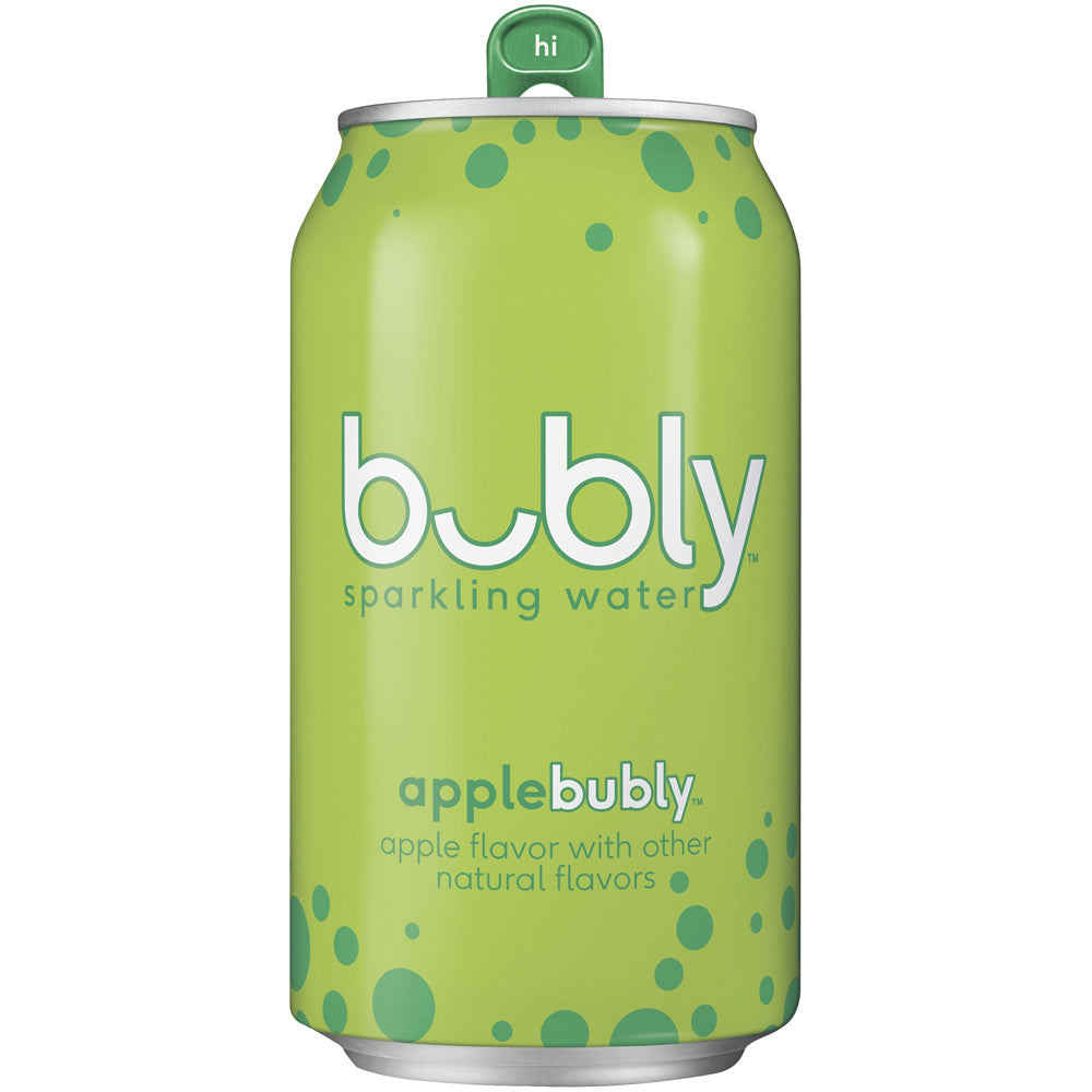 Bubly Water Apple 24/12oz cans per case
