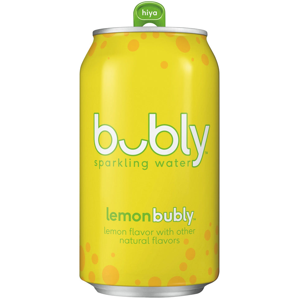 Bubly Water Lemon 24/12oz cans per case