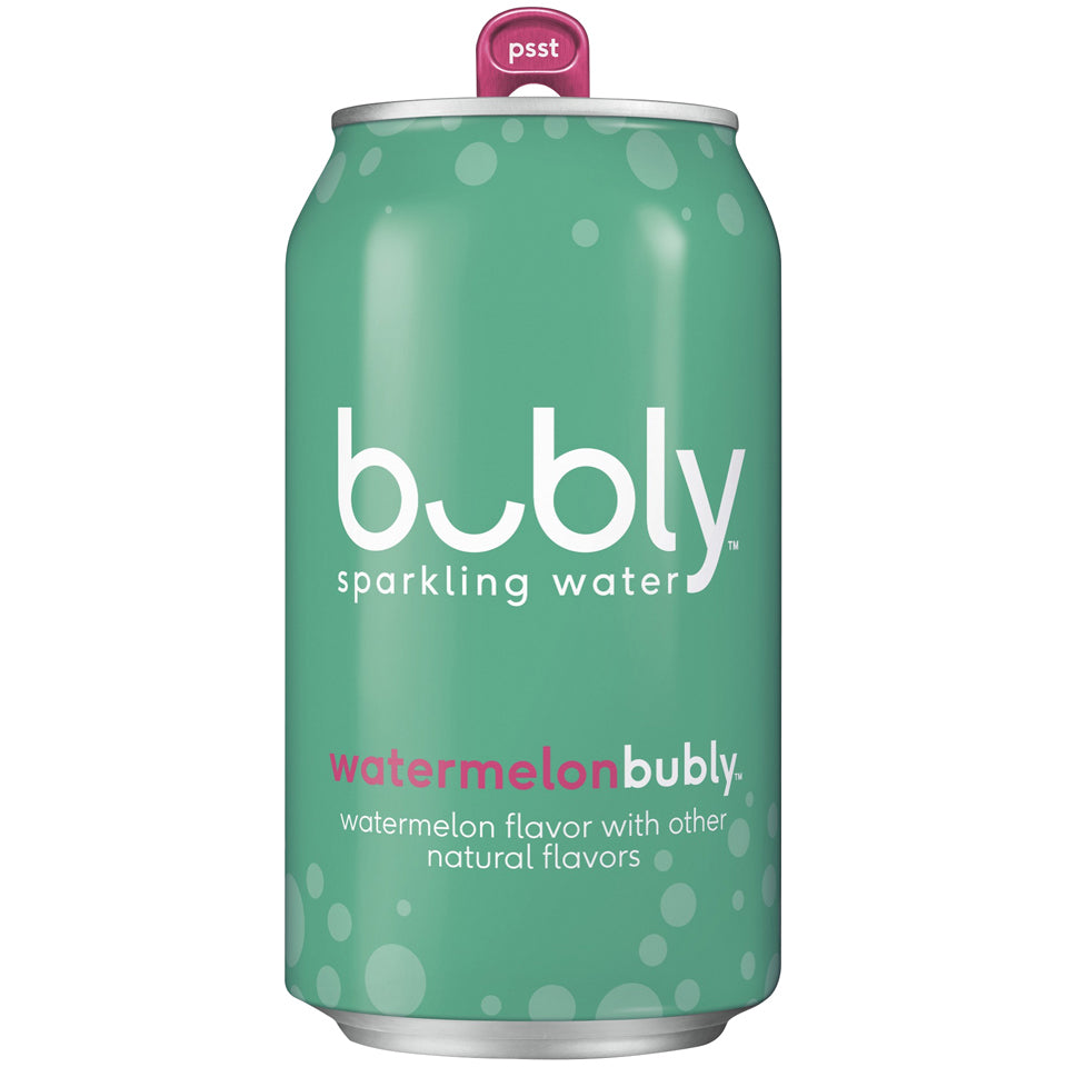Bubly Water Watermelon 24/12oz cans per case