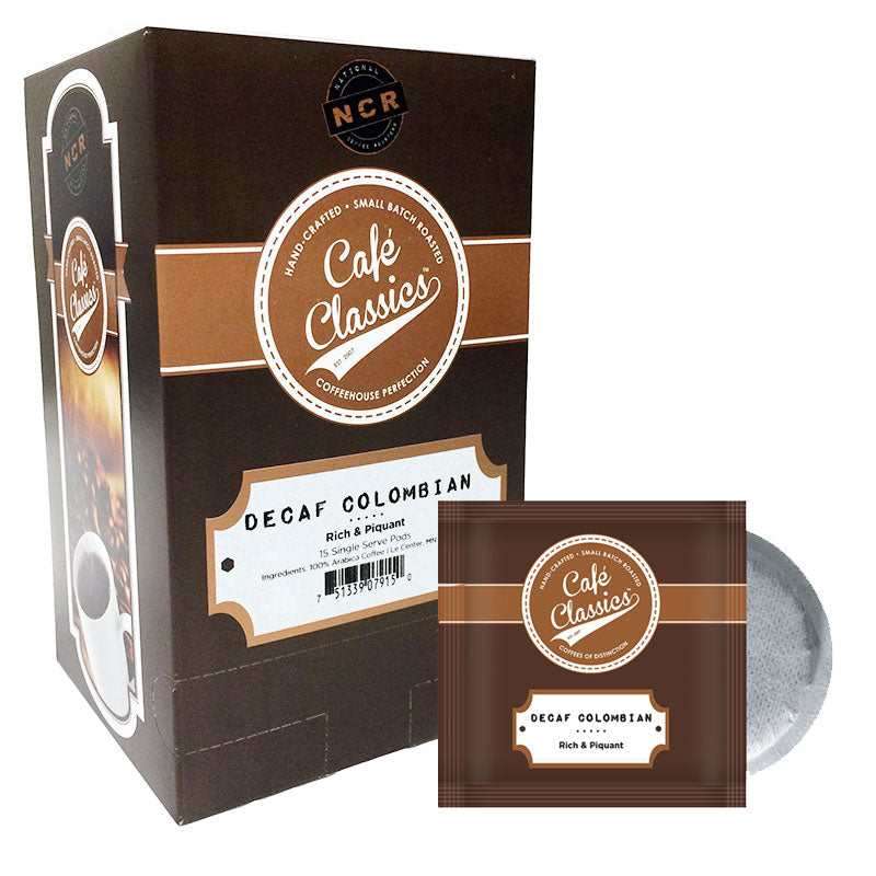 Decaf Colombian Coffee, Soft Coffee Pod | Cafe Classics