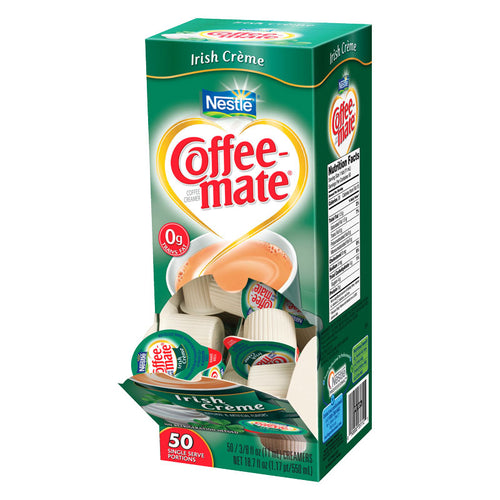 Coffee-Mate Irish Creme Liquid Creamer Singles 50 count | Nestle