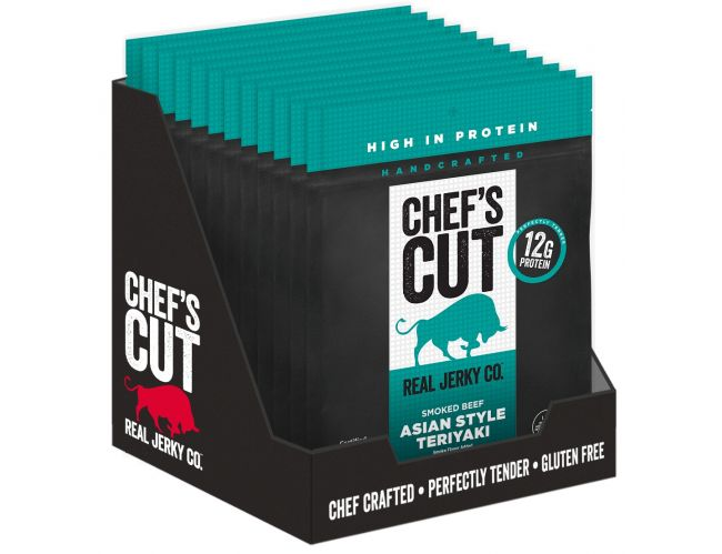 Chef's Cut Asian Teriyaki Beef Jerky - 12/1.25oz Bags
