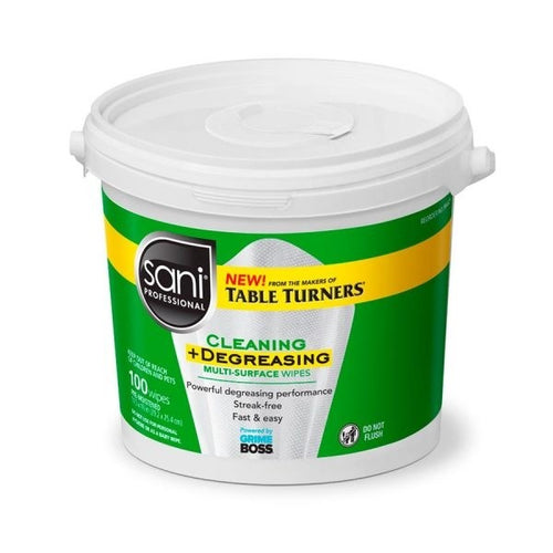 Sani Professional 100 Count Multi-Surface Cleaning and Degreasing Wipes